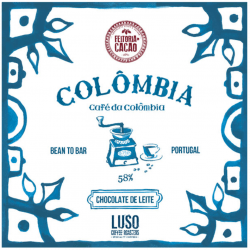 Chocolat au lait (cacao de Colombie) et café colombien par Feitoria do Cacao - Bean to Bar