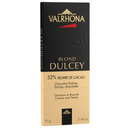 Tablette chocolat blond Dulcey  par Valrhona