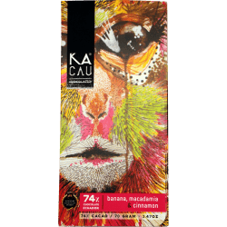 Chocolat blanc Banane, Macadamia & Cannelle By Kacau Chocolates - Bean to bar