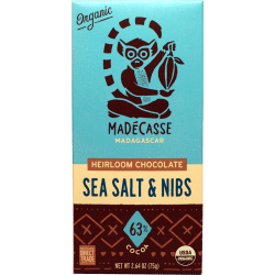 Chocolat Noir éclats de cacao & Sel de mer By Madecasse - Bean to bar