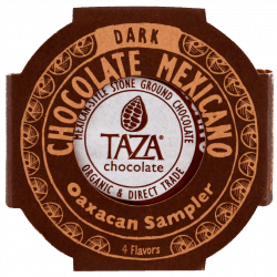 4 Chocolats Noir Vanille, Cannelle, Noir Pure et Piment Guajillo Chili par Taza Chocolate