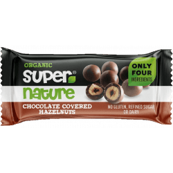 Noisettes recouvertent de chocolat vegan & bio par Supernature