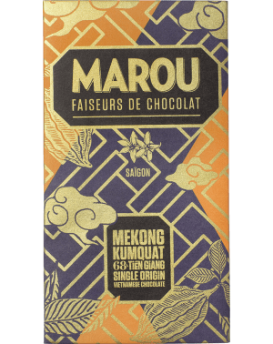 Marou Kumquat - Chocolat Noir Tièn Giang 68% par Marou Chocolate.