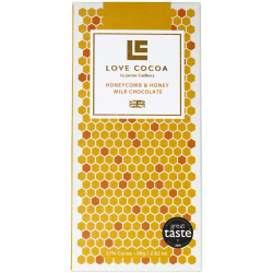 Love Cocoa Honeycomb, le chocolat au lait single origin au caramel britannique