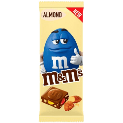 m&m's almond, la nouvelle tablette m&m's amandes !!