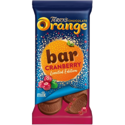 Tablette chocolat au lait à l'extrait naturel d'orange et cranberry par Terry's Chocolate Orange