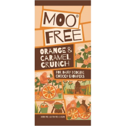 Orange & Caramel Crunch par Moo Free  - Chocolat au lait Vegan